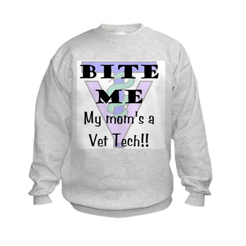 - Mom Vet Tech Dog Kids Sweatshirt by CafePress