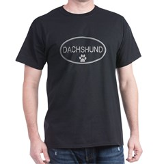 Oval Dachshund Dark T-Shirt