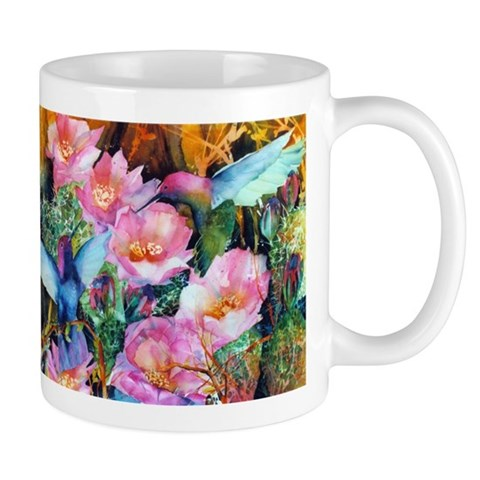 Hummingbirds and Cactus  Hummingbird Mug by CafePress