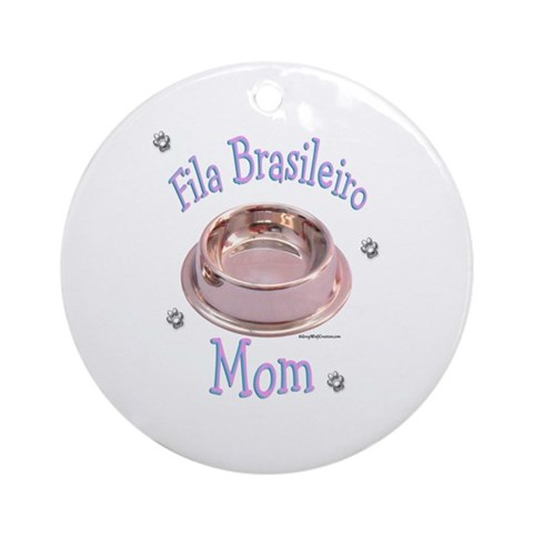 Fila Mom Ornament Round Pets Round Ornament by CafePress