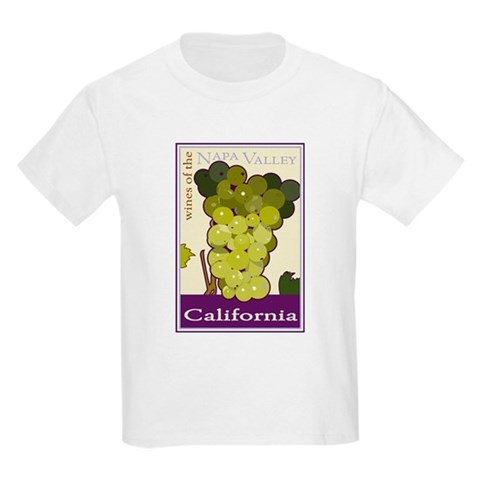 Wines of the Napa Valley, Cal Kids T-Shirt Vintage Kids Light T-Shirt by CafePress