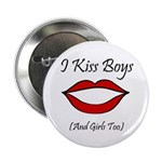"I Kiss Boys (and girls too) 2.25"" Button (10 pack)"