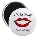 "I Kiss Boys (and girls too) 2.25"" Magnet (100 pack"