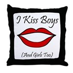 I Kiss Boys (and girls too) Throw Pillow