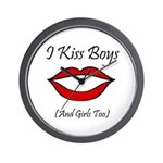 I Kiss Boys (and girls too) Wall Clock