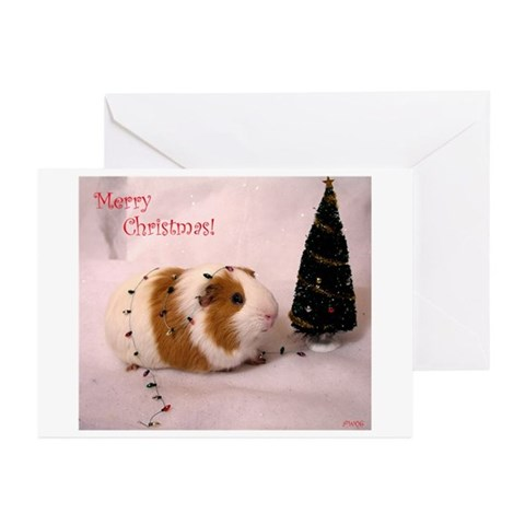 Timmy's Tree Blank Xmas Cards Pk of 10 Pets Greeting Cards Pk of 10 by CafePress