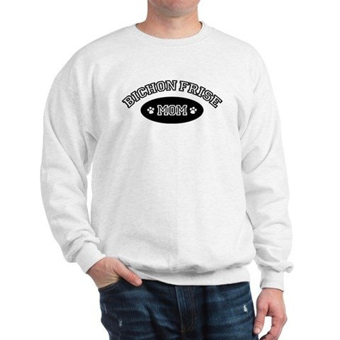 Bichon Frise Mom Pets Sweatshirt by CafePress