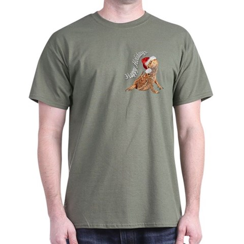 Bearded Dragon Santa Pets Dark T-Shirt by CafePress