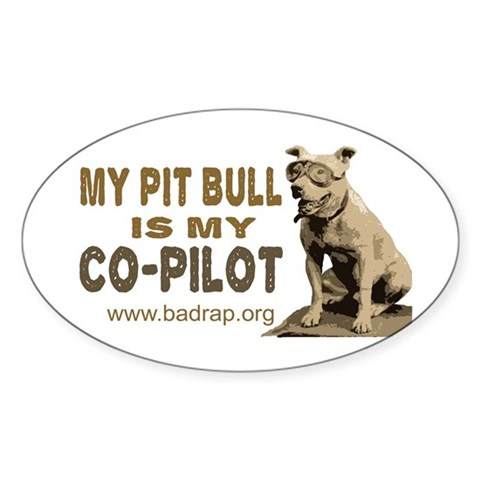Oval Pit Bull Pilot Decal