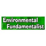 Environmental Fundamentalist Sticker