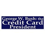 Bush: Credit Card President Sticker (Bum
