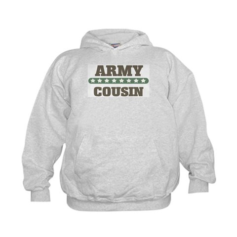 Army Stars Cousin  Military Kids Hoodie by CafePress
