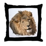 Caring Lion Throw Pillow