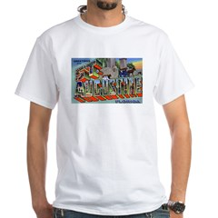St. Augustine Florida Greetings (Front) White T-Sh