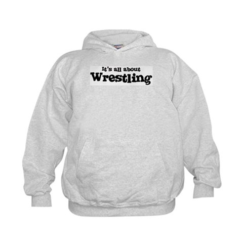 All about Wrestling  Sports Kids Hoodie by CafePress