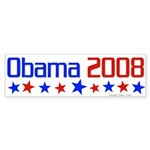 Obama 2008 Bumper Sticker With Stars