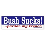 Bush Sucks! Sticker (Bumper)
