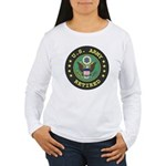 ArmyRetiredSeal.gif Women's Long Sleeve T-Shirt