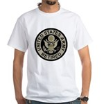 Army-Retired-Subdued White T-Shirt