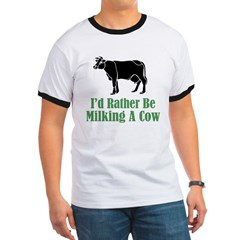 Milking a Cow Ringer T