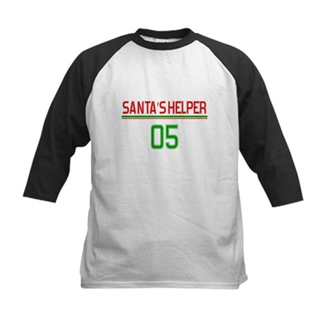 Baby Santa Helper Humor Kids Baseball Jersey by CafePress