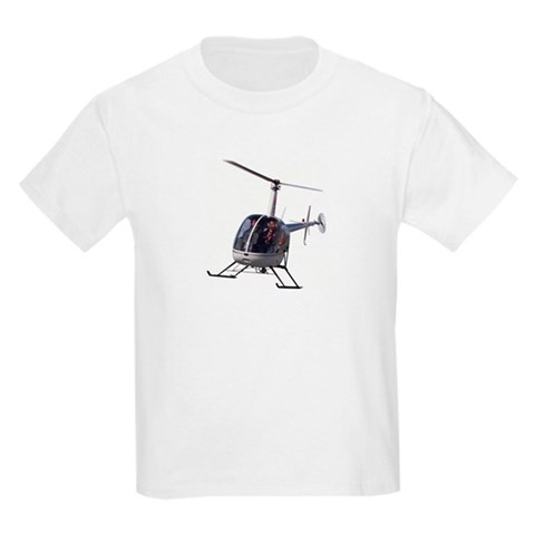 Kid's Helicopter T-Shirt Cool Boys Girls Gifts Art Kids Light T-Shirt by CafePress