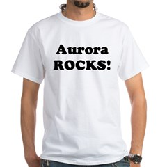 Aurora Rocks! Premium White T-Shirt