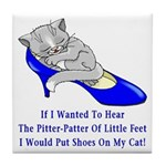 Cat Shoes Tile Coaster