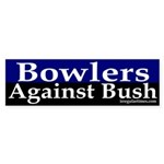 Bowlers Against Bush Sticker (Bumper)