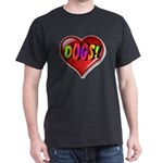 Dogs Awesome Heart T-Shirt