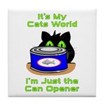 Cats World Tile Coaster