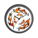 Tribal Flames Wall Clock