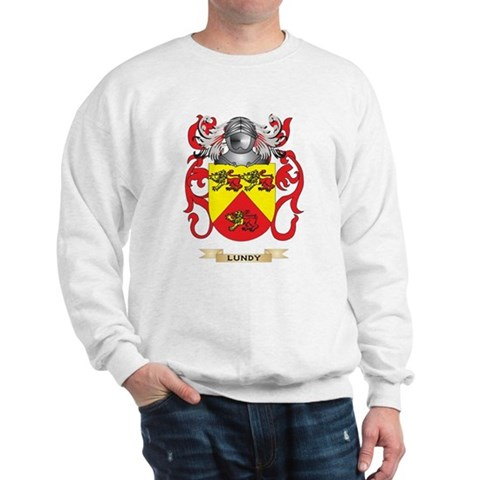 Product Image of Lundy Coat of Arms - Family Crest Sweatshirt