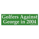 Golfers Against George Bush Sticker