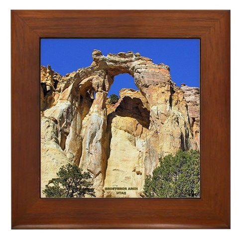 - Grosvenor Arch 40 Rock Framed Tile by CafePress
