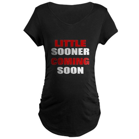 Product Image of little sooner coming soon Maternity T-Shirt