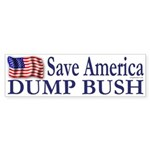Save America, Dump Bush (bumper sticker)