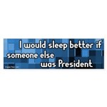 Sleep Better Dump Bush Bumpersticker