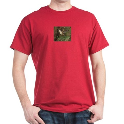 Calliope Hummer Tee Hummingbird Dark T-Shirt by CafePress