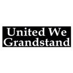 United We Grandstand Sticker (Bumper)