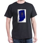 Indiana Outline Map and Flag T-Shirt