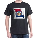 Missouri Outline Map and Flag T-Shirt