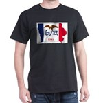 Iowa Outline Map and Flag T-Shirt