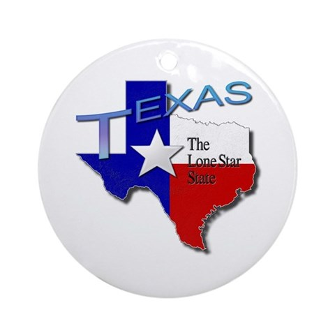Texas Ornament Round Travel Round Ornament by CafePress