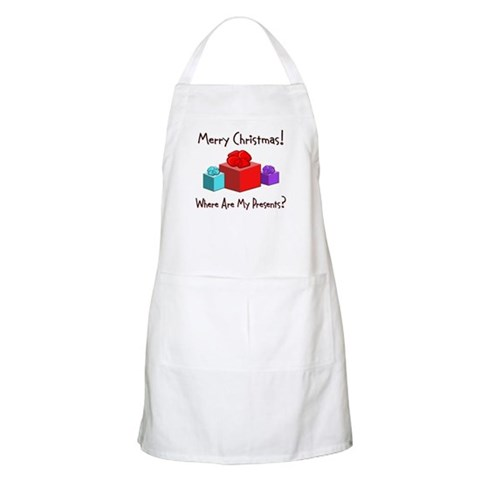 Christmas Presents BBQ Christmas Apron by CafePress