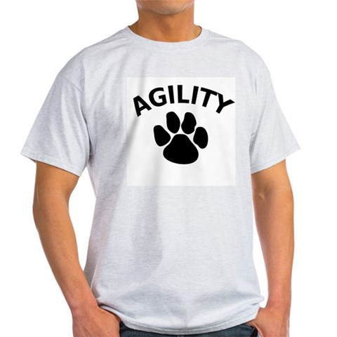 Dog Agility Paw Ash Grey T-Shirt Pets Light T-Shirt by CafePress