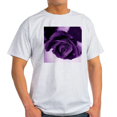 Purple Rose Ash Grey T-Shirt Photography Light T-Shirt by CafePress