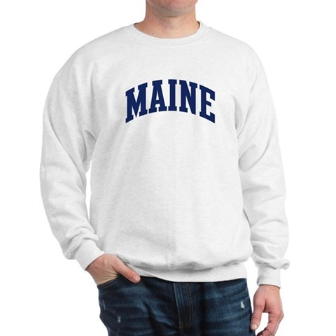 Blue Classic Maine Travel Sweatshirt by CafePress