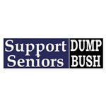 Support Seniors: Dump Bush (Sticker)