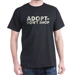 Adopt Don't Shop White Gold T-Shirt
